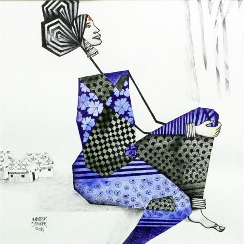 Nagesh Devkar figurative painting