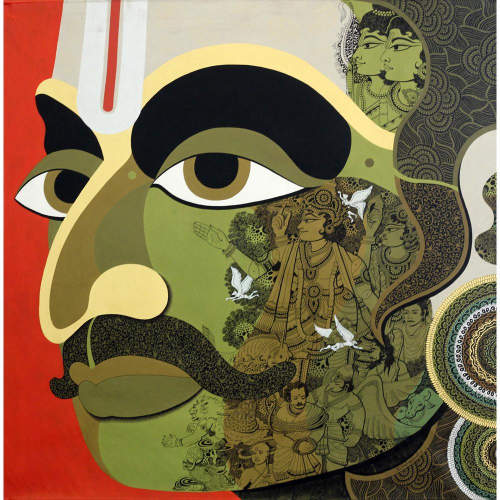 Nagesh Goud figurative painting