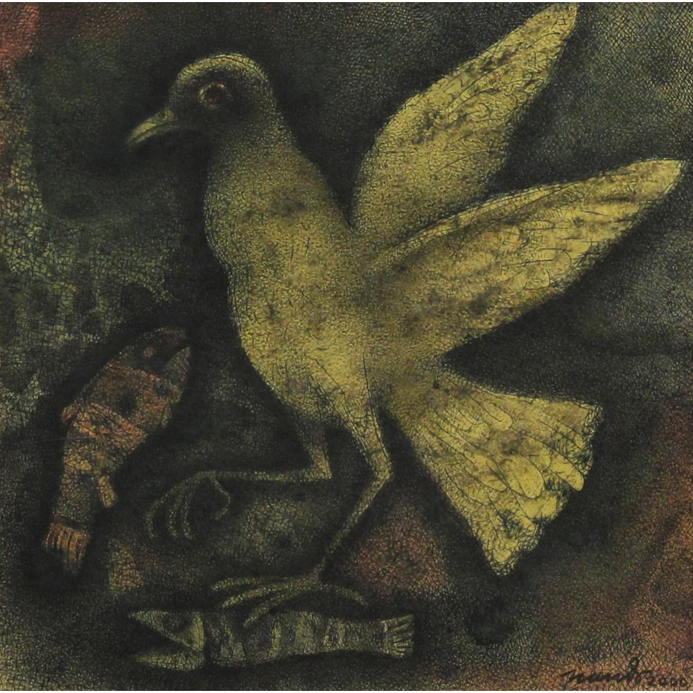 Nandalal Mukherjee bird painting
