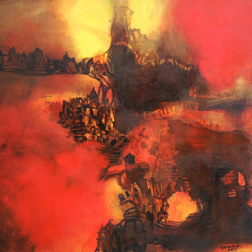 Neena Singh abstract painting
