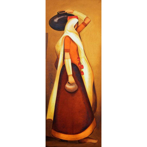 Nitin Nangare figurative painting