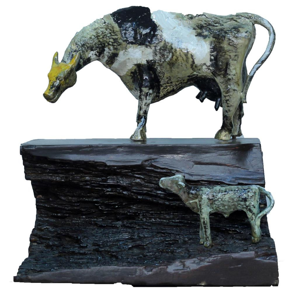 P Gnana bronze sculpture