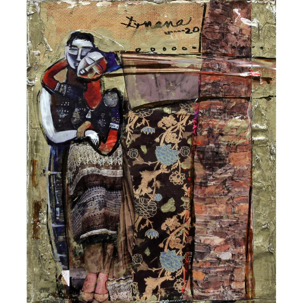 P Gnana figurative painting