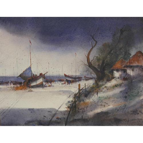 Parag Adhikari watercolour painting