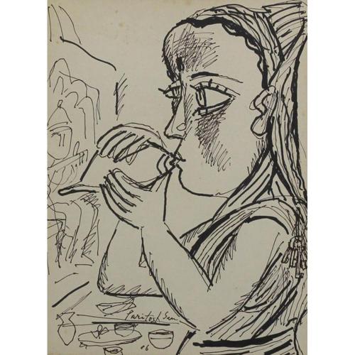 Paritosh Sen watercolour painting
