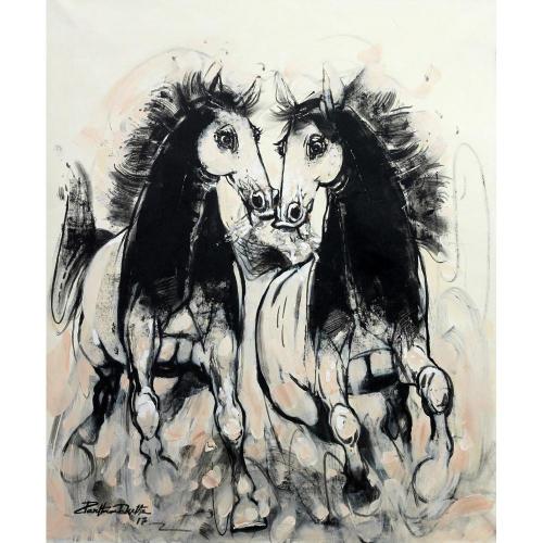 Partho Dutta Horse painting