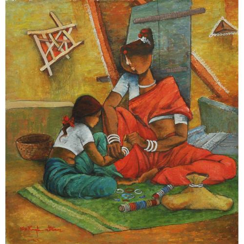 Pon Raghunathan figurative painting