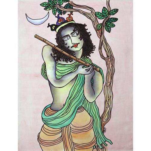 Prokash Karnakar figurative painting