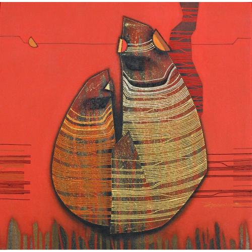 Rahul Dangat abstract painting