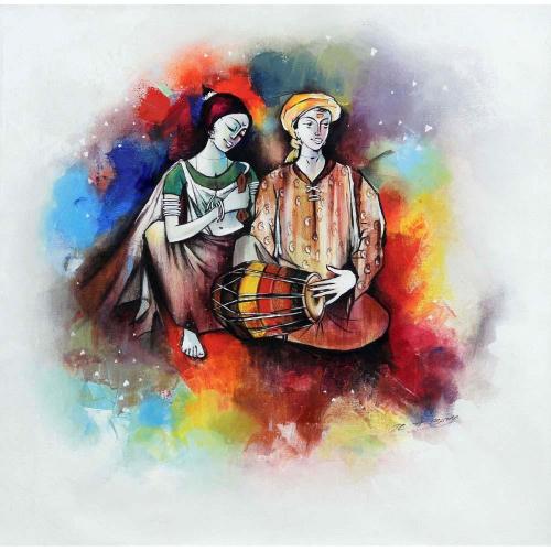Rajesh Borse figurative painting