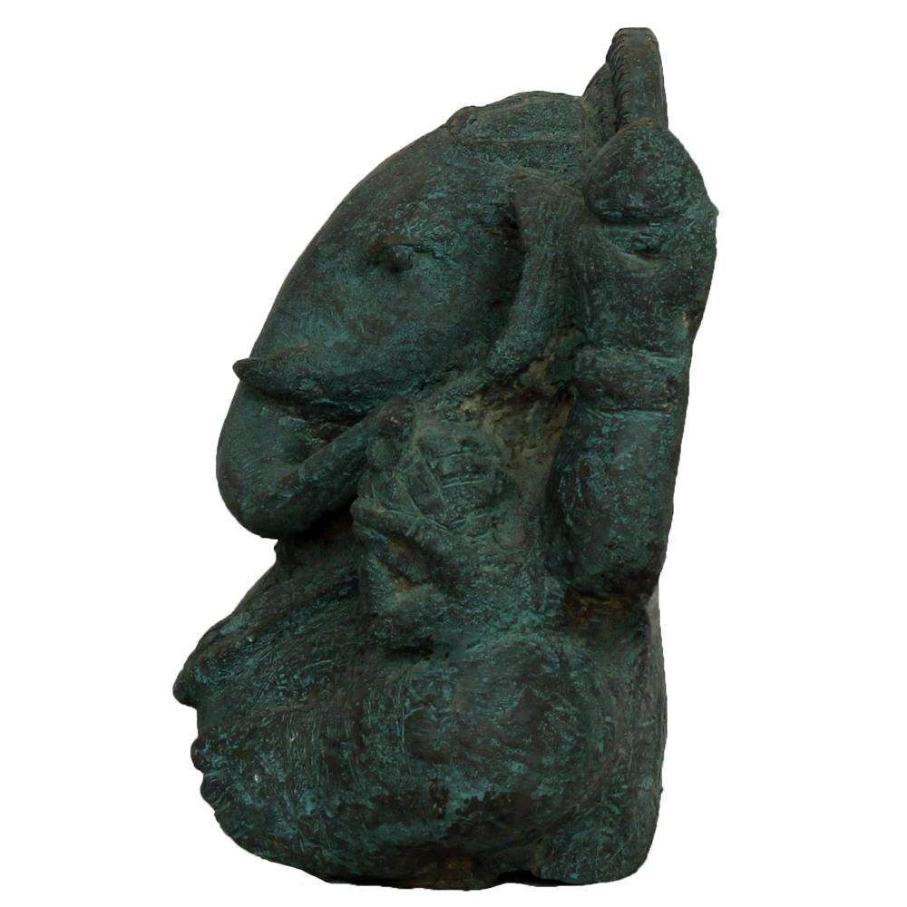 Ram Kumar ganesha bronze sculpture