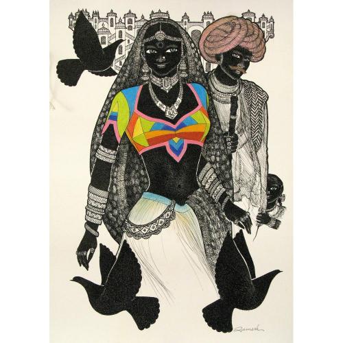 Ramesh Darji figurative painting
