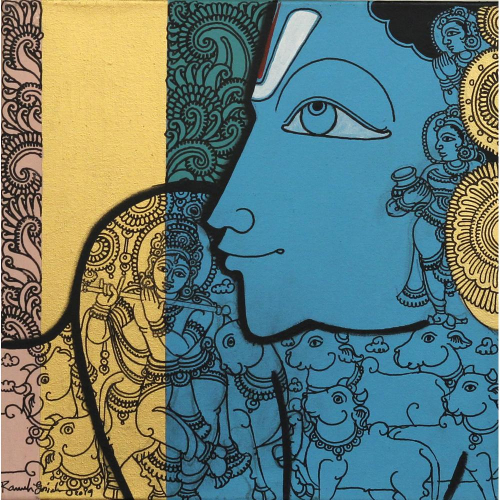 Ramesh Gorjala krishna painting