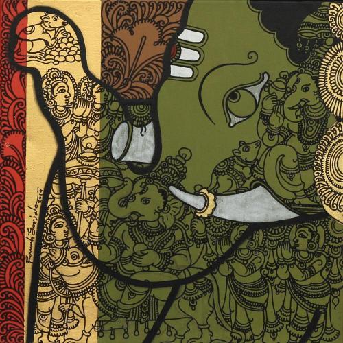 Ramesh Gorjala ganesha painting
