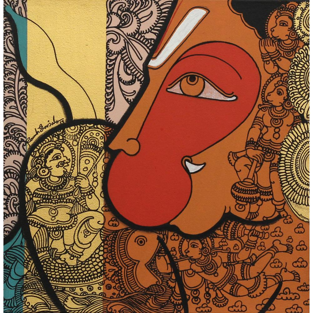 Ramesh Gorjala hanuman painting