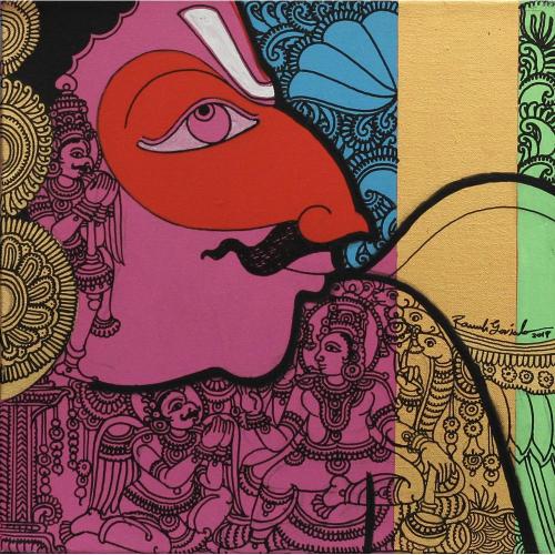 Ramesh Gorjala garuda painting