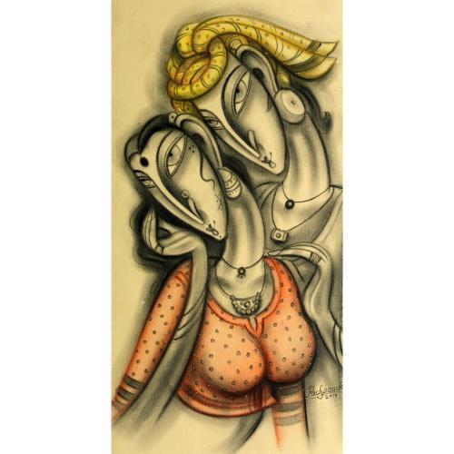 Ramesh Pachpande figurative painting