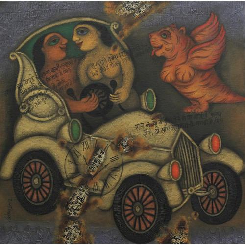 Rameshwar Singh figurative painting