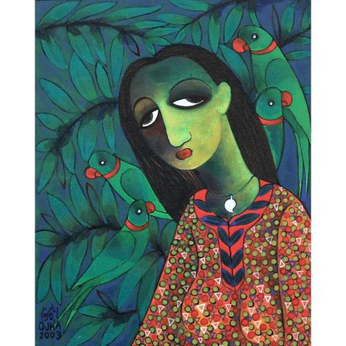 Ratnakar Ojha figurative painting