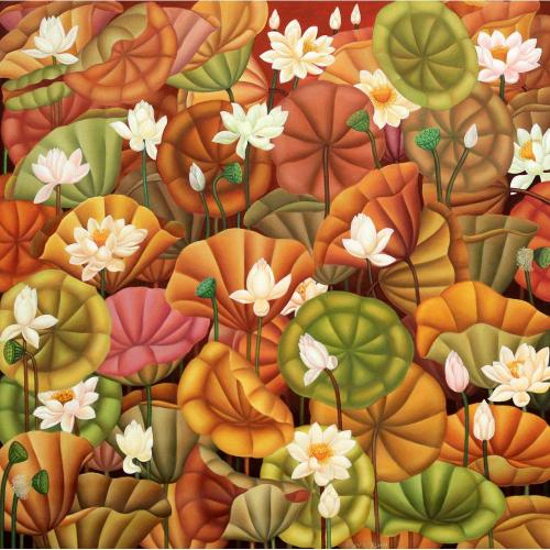 Roy K John flowers painting
