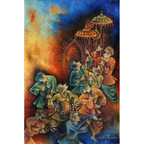 S Krishnappa figurative painting