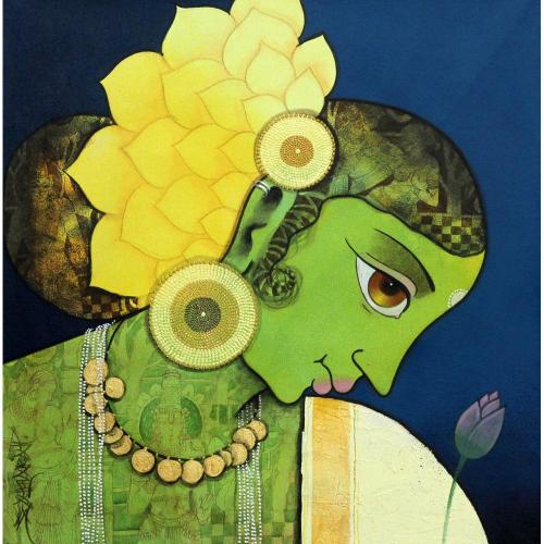 Sachin Kharat figurative painting