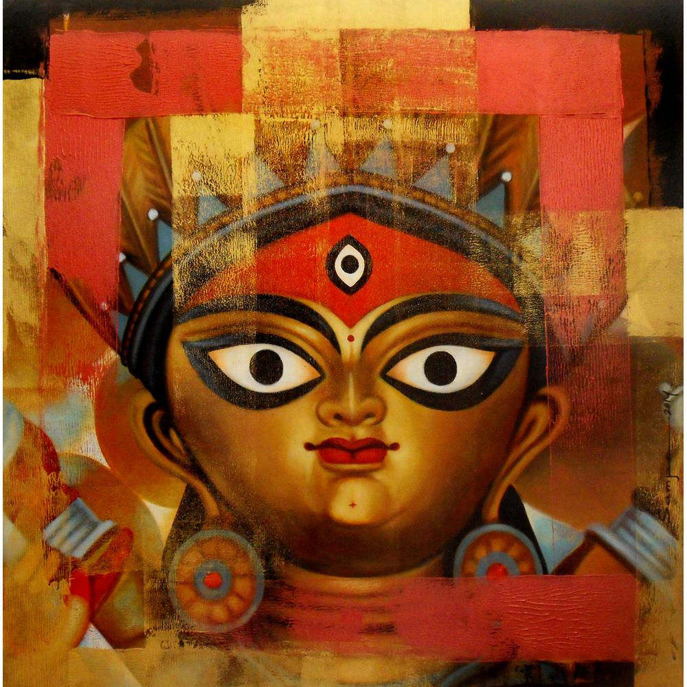 Sampa Paul Durga Ma Painting