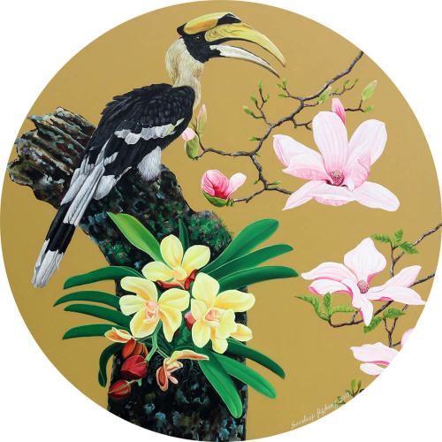 Sandeep Jigdung flowers painting