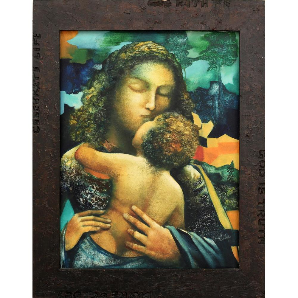 Sanjay Kumar Mother and Child painting