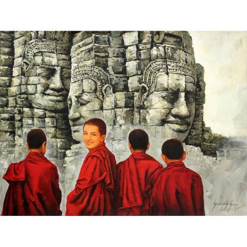 Sanjay Soni Buddist monks painting