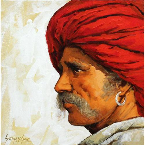 Sanjay Soni Turbaned man painting