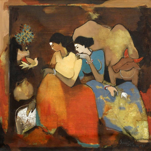Sanjiivv Sankpal figurative painting
