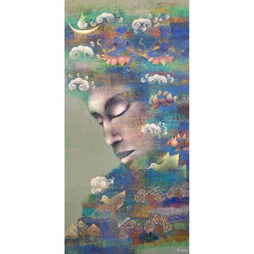 Shampa Sircas Das figurative painting