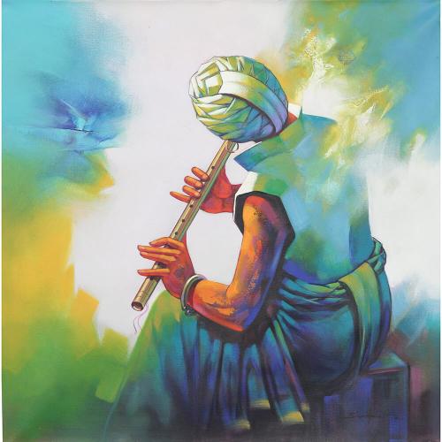 Shankar Gorjare figurative painting