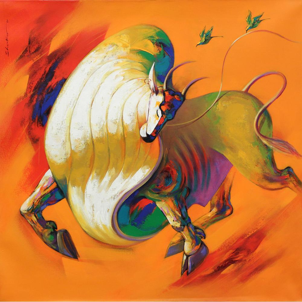 Shankar Gorjare bull painting