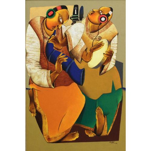 Shantkumar Hattarki figurative Painting