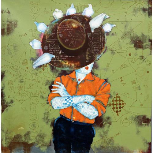 Shiv Kumar Soni figurative painting