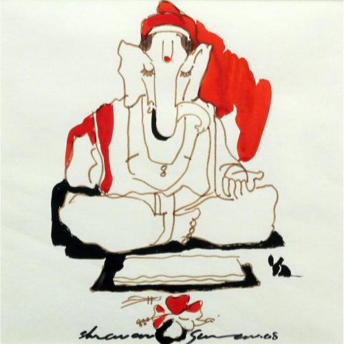 Shravan Gurav ganesha painting