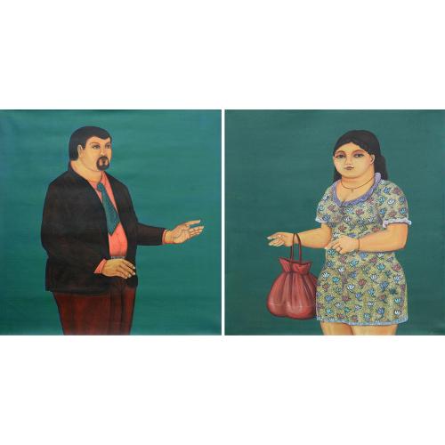 Shripad Gurav figurative painting
