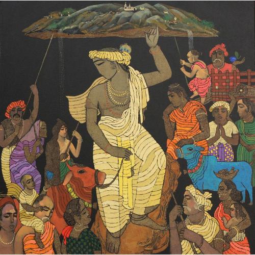 Siddharth Shingade Gowardhan painting