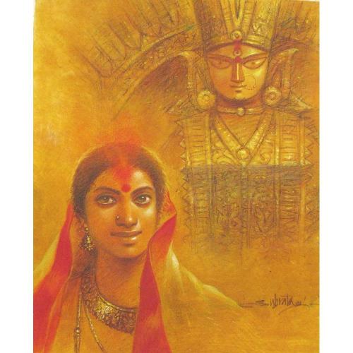 Subrata Das durga puja painting