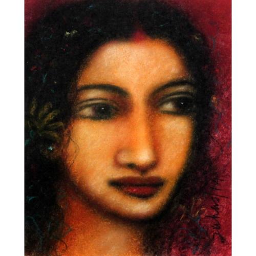 Suhas Roy radha painting