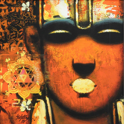 Suajata Achrekar Brahmin Monks painting