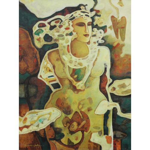 Swapan Kumar Palley abstract painting