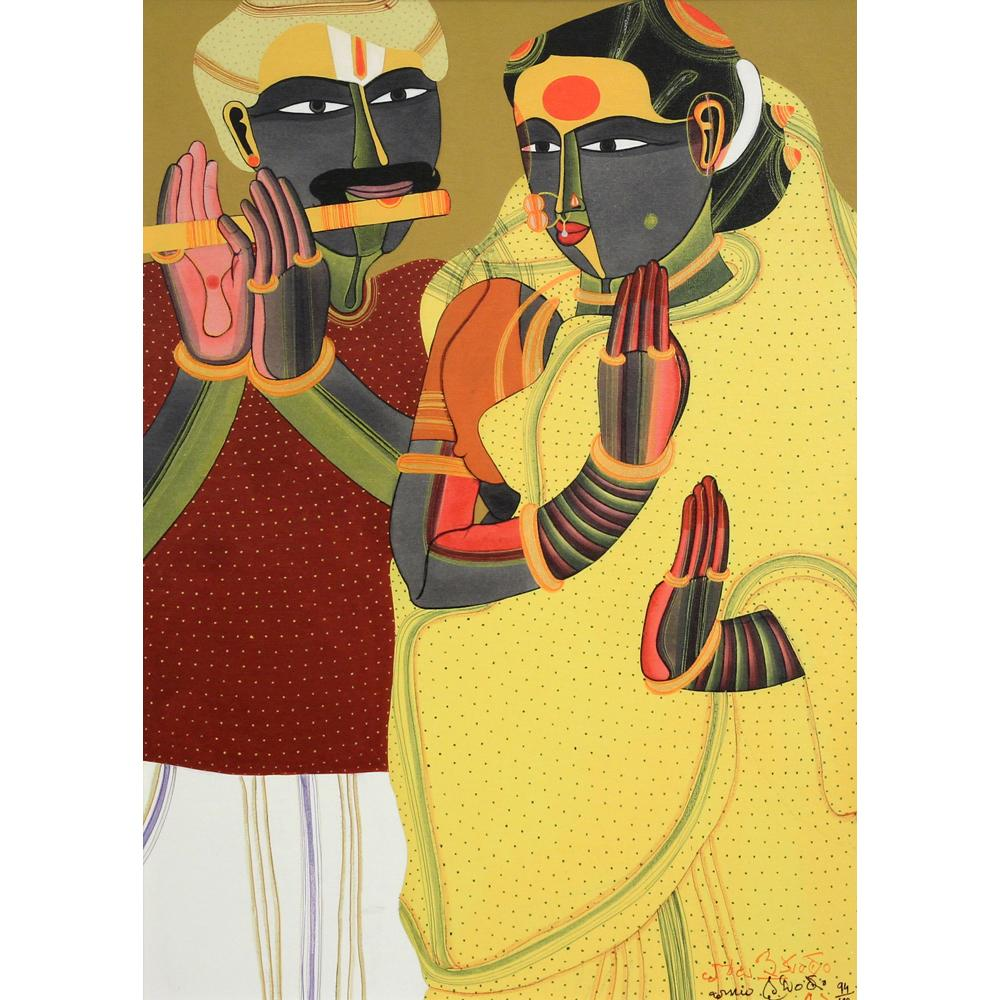Thota Vaikuntam figurative print