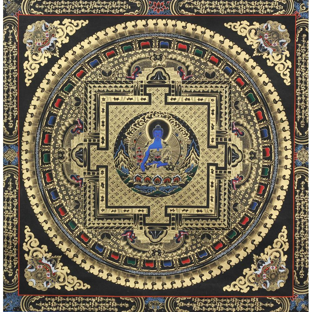 Unsigned buddhist thangka painting
