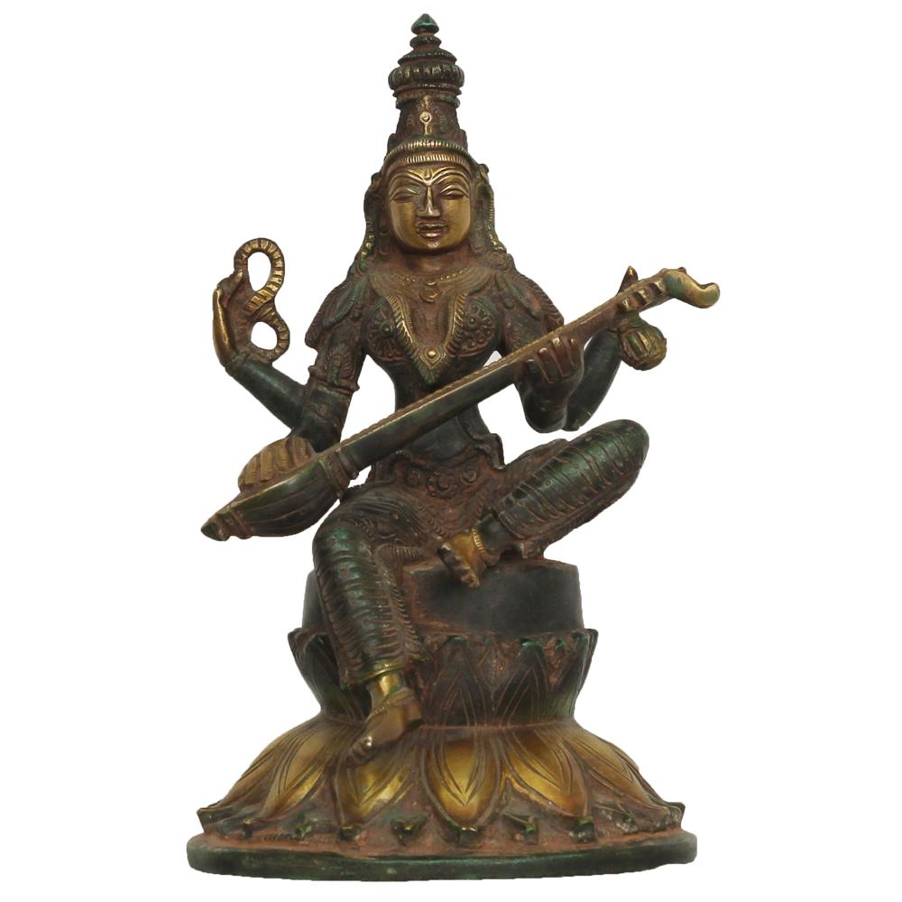 Unsigned saraswati sculpture