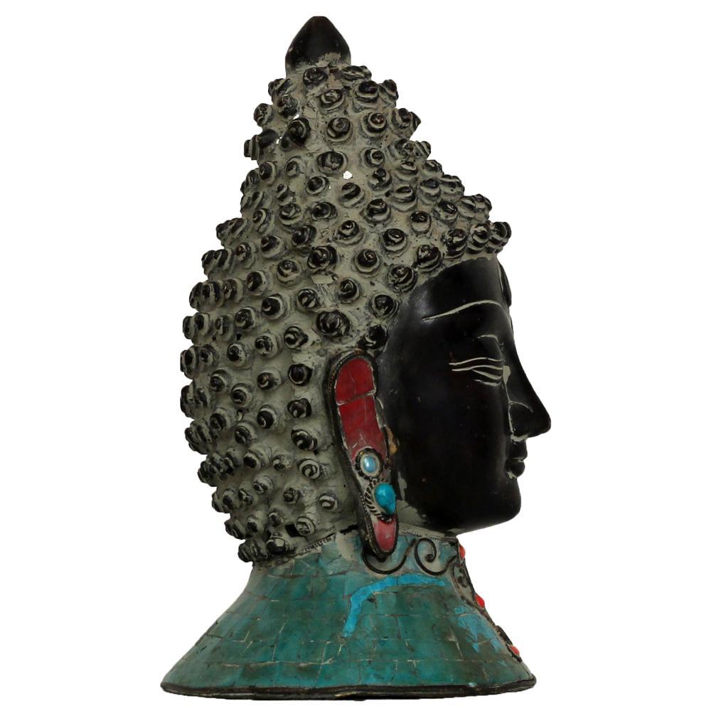 Unsigned buddha head sculpture