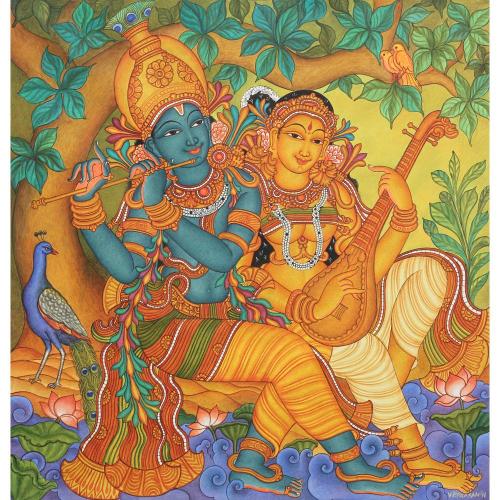 VP Prasanth Radha Krishna painting
