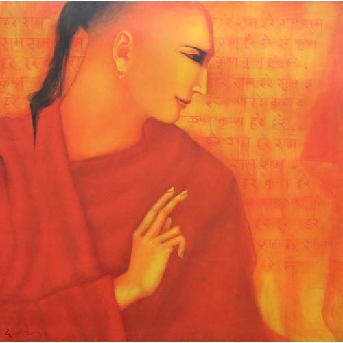 Vijay Dupatre monkpainting